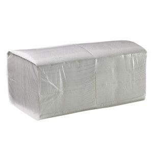 CAPRICE LUNCH 1PLY WHITE NAPKIN  1LW3 - 500 - PKT