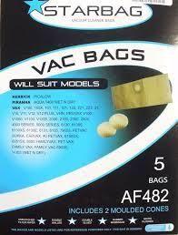 STAR BAG - AF482 - PAPER VACUUM BAGS + 2 MOULDED CONES - 5