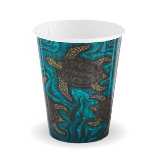 BIOPAK Double Wall CUP - 8oz (80mm) - Indigenous Series - 1000 - ( BC-8DW-CCAB ) - CTN