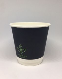 MY EARTH CUP DOUBLE WALL BLACK PLA - 8oz (90mm) - 25 - SLV