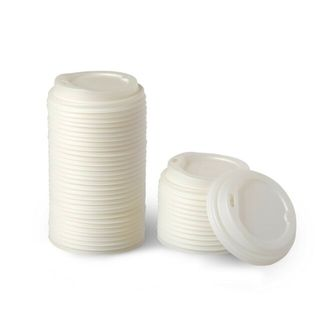CUSTOM LID - PLA 8-16oz (90mm) WHITE OPAQUE - 50 - SLV