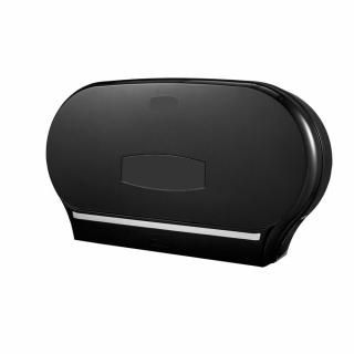 ROYAL TOUCH MAXI JUMBO DOUBLE TOILET ROLL DISPENSER BLACK - 33512