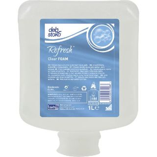 DEB REFRESH CLEAR FOAM HAND WASH 1LTR - POD