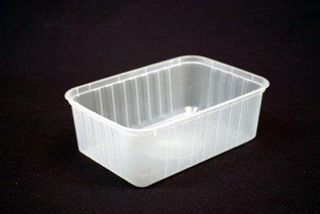 GENFAC - SV 1500ml RIBBED RECTANGULAR CONTAINER - 25 - SLV