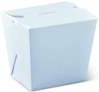 DETPAK 8OZ FOOD PAIL / NOODLE BOX - WHITE - (NO HANDLE) - 50 - SLV