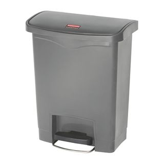 RUBBERMAID 30L SLIM JIM RESIN STEP-ON FRONT STEP CONTAINER - GREY ( R1883600 ) - EACH