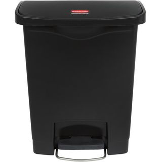 RUBBERMAID 30L SLIM JIM RESIN STEP-ON FRONT STEP CONTAINER - BLACK ( R1883609 ) - EACH