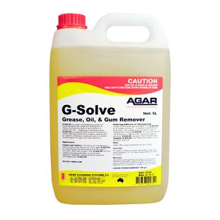 AGAR G-SOLVE SOLVENT BASED STAIN REMOVER - LOW ODOUR - 5L