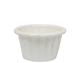 WHITE PLEATED PAPER CUP 15ML ( CA-PLT050 ) - 5000 - CTN