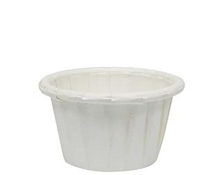 WHITE PLEATED PAPER CUP 15ML ( CA-PLT050 ) - 5000 - CTN