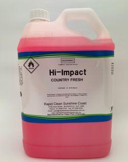 "HI - IMPACT  ""COUNTRY FRESH"" FRANGIPANI AIR FRESHENER & SANITISER ( Alcohol based ) - 28702 - 5L"