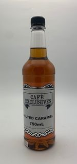CAFE EXCLUSIVES SALTED CARAMEL SYRUP - 750ML BOTTLE