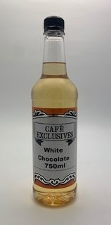 CAFE EXCLUSIVES WHITE CHOCOLATE SYRUP - 750ML BOTTLE