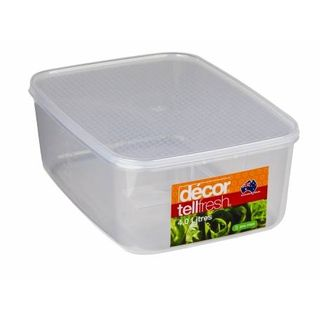 DECOR 4L TELLFRESH OBLONG CONTAINER - EACH