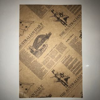 BROWN 'AUSTRALIAN DAILY NEWSPRINT' PRINT GREASE PROOF PAPER - 200 X 300MM - 200 - PACK