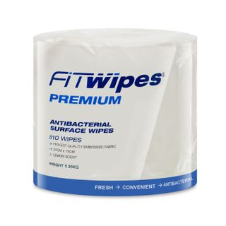 WOW ANTIBACTERIAL SURFACE WIPES - 810 WIPES X 4 ROLLS - CTN
