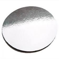 "7"" (180MM) SILVER FOILED CAKE CIRCLE 2.8MM - 50 -PACK"