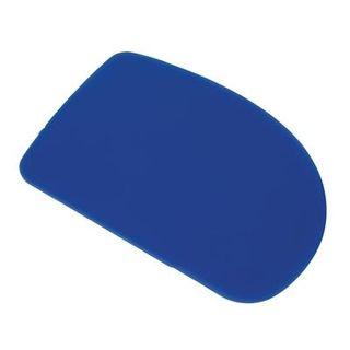 VOGUE PLAIN PLASTIC SCRAPER 115X75MM ( E401 ) - BLUE - EACH