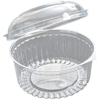 24OZ CLEAR SHOW BOWL WITH HINGED DOME LID - 50 - SLV