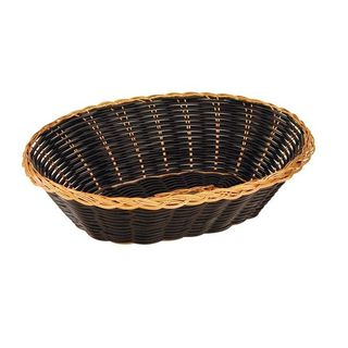 BREAD BASKET PP OVAL BLACK & GOLD 240MM - 41879 - 12 - PACK