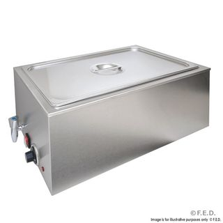 BAIN MARIE - HEATED BENCHTOP MODEL WITH DRAIN VALVE & 1/1 GN PAN & LID ( ZCK165BT-1 ) -EACH
