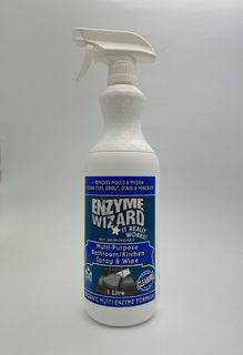 PRINTED ENZYME WIZARD MULTI-PURPOSE BATHROOM / KITCHEN MOULD & MILDREW SPRAY BOTTLE - 1L INCL TRIGGER