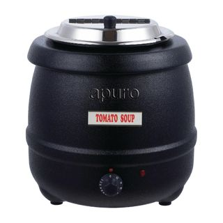 APURO SOUP KETTLE - BLACK - 10L CAPACITY - L715-A - EACH