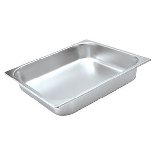 STANDARD STEAM PAN S/STEEL - 2/3 SIZE - 100mm - EA - 8723100