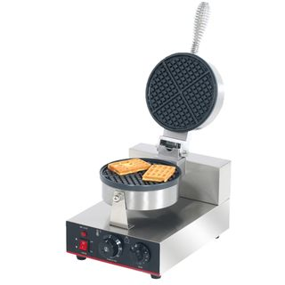 SINGLE PLATE ROUND WAFFLE MAKER - 190MM DIA - TWB-1KW - EACH