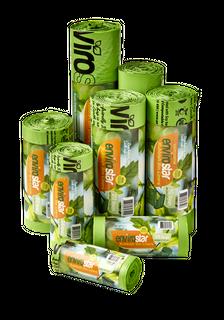 ENVIRO 240Ltr Green Compostable Bin Liner 23um - 120-CTN