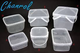 CHANROL 1L TAMPER EVIDENT SQUARE CONTAINER & LID W/HANDLE -100 -CTN