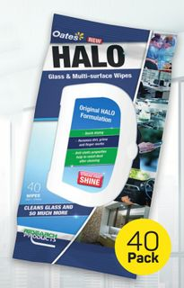 Research HALO Fast Dry Glass & Shiny Surface Cleaner  WIPES - 24 -CTN