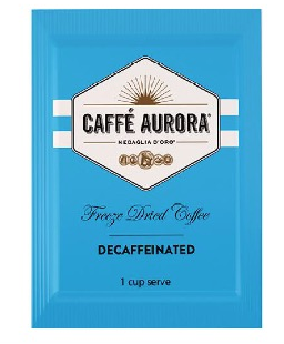 AURORA COFFEE DECAFFEINATED FREEZE DRIED SACHETS - 500 -CTN