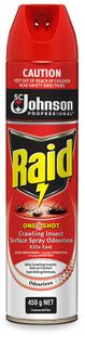 RAID ONESHOT CRAWLING INSECT SURFACE SPRAY - 450G - EACH
