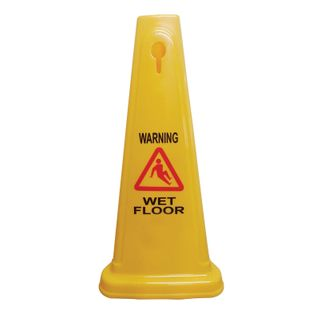 GALA 60CM SAFETY CONE - YELLOW - EACH