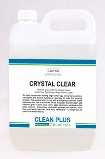 CLEAN PLUS CRYSTAL CLEAR GLASS & SURFACE CLEANER - 5L