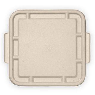 BIOPAK 3 Compartment BIOCANE LARGE LID - Natural - 300 - CTN ( B-LBL-3C-N-LARGE )