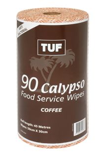 EDCO TUF CALYPSO  H.D. WIPES ROLL - COFFEE - 45MTR -CTN -6