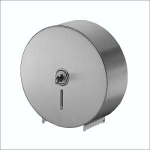 STAINLESS STEEL SINGLE JUMBO TOILET ROLL DISPENSER - A-841 EACH