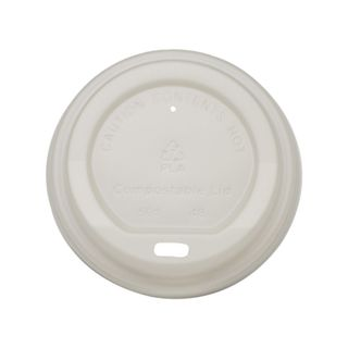 CUSTOM LID - PLA 6-12oz (80mm) WHITE OPAQUE - 1000 - CTN