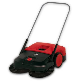 HAAGA 375 MANUAL INDUSTRIAL SWEEPER - 75CM WIDTH & 50L BIN CAPACITY - HAA375 - EACH