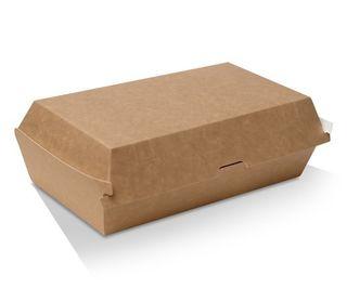 GREENMARK BROWN & WHITE CARDBOARD SNACK BOX REGULAR 176X91X85MM ( KB6 ) - 200 - SLV