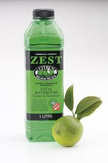 "Citrus Resources "" ZEST "" Total Bathroom Cleaner - 1L X12 -CTN"