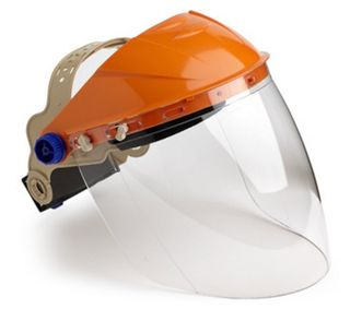 PRO CHOICE FACE SHIELD / BROWGAURD WITH VISOR CLEAR LENS - EACH