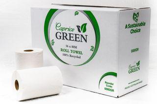CAPRICE GREEN ROLL TOWEL - 80M - 16 - CTN