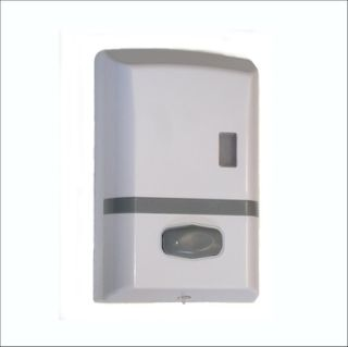 WHITE ABS SOAP DISPENSER BULK FILL PUSH BUTTON 1L ( MS-900 ) - EACH