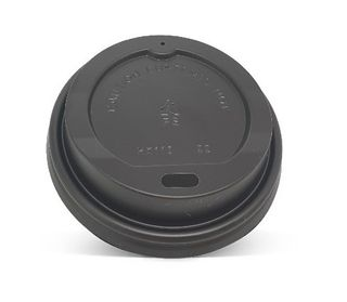 PAC TRADING LID - BLACK 8oz - 20oz (90mm) FLAT COFFEE CUP LID - 1000 -CTN