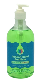 CLEAN PLUS LIQUID INSTANT HAND SANITISER WITH ALOE & VITAMIN E - 500ML PUMP - 12 - CTN