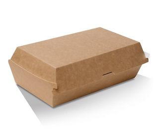 GREENMARK BROWN & WHITE CARDBOARD SNACK BOX LARGE 205X106X76MM ( KB8 ) - 125 - SLV