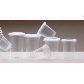 CAPRI CLEAR PLASTIC FLAT LIDS - SMALL  SUITS  7, 8, 10, 12 OZ - 100 - SLV